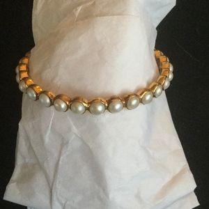 Jewelry - White pearl bangle.